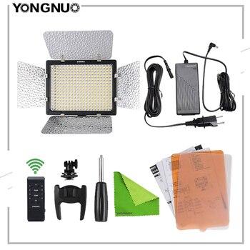 Yongnuo YN300 III 3200k-5500K CRI95 Camera Photo LED Video Light Remote Control Optional with AC Power Adapter + Battery KIT цена 2017