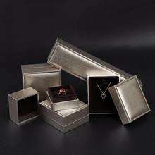 New Wholesale jewelry packaging box in golden Composite materials for ring pendant bracelet Jewelry accessories for women(China)