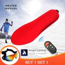 [تعزيز] شتاء دافئ تسخين كهربائي النعال مع جهاز التحكم عن بعد 1800mAh بطارية التدفئة نعال الحذاء منصات نظارات التزلج الحرة