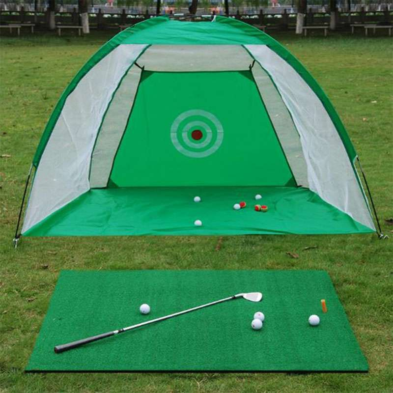 2M Golf Cage Foldable Golf Hitting Cage Oxford Cloth Detachable Swing Hitting Practice Net Trainer Indoor Outdoor Training Aids