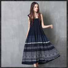 Summer womens wear, new style of hanging, national embroidery, fashion, stage highlights, original design clothing
