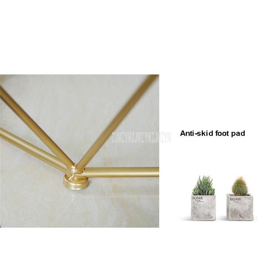 47cm nordique géométrie fer Art Table à thé créatif petit verre trempé bureau fer jambe salon Table mode meubles de maison - 4