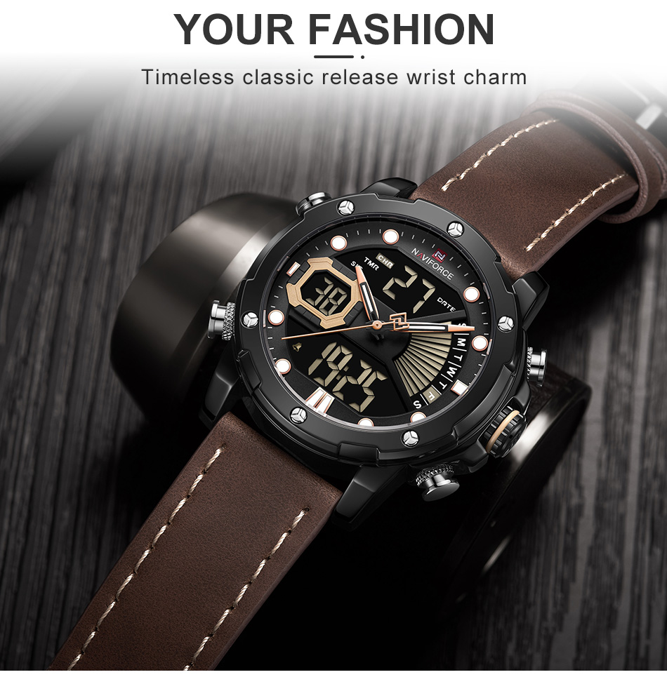 Hee66a91c507c4ec2b388637c6cc3668ev NAVIFORCE Men Watch Top Luxury Brand Fashion Sports Wristwatch
