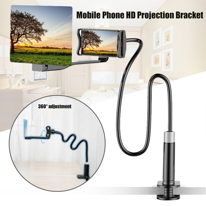 Universal Mobile Phone HD Projection Bracket Screen Magnifier 360 Degree Adjustable 8/12 Inch For Samsung IPhone Huawei