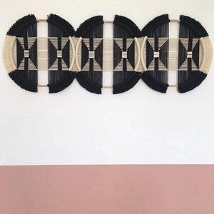Decoración suave y creativa para colgar en la pared con tres anillos, tapiz tejido y conectado, decoraciones colgantes, decoración mexicana para el hogar