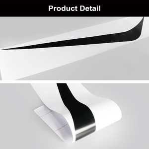 Image 5 - 2pcs 100cmx26cm Hood Cover Car Stickers Auto Vinyl Film Long Stripe Decals DIY Car Sport Styling Stickers Car Tuning Accessories