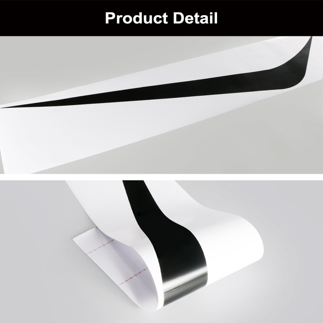 2pcs 100cmx26cm Hood Cover Car Stickers Auto Vinyl Film Long Stripe Decals DIY Car Sport Styling