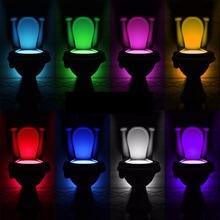 Ночник с датчиком освещения для туалета светодиодный светильник