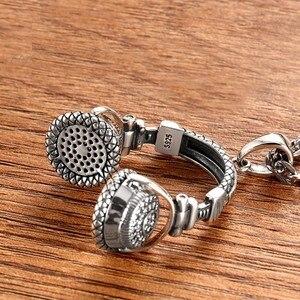 Image 5 - Zabra Gothic Solid 925 Sterling Zilver Muziek Headset Hanger Ketting Voor Mannen 70*32 Mm Vintage Fashion Biker Mannelijke sieraden