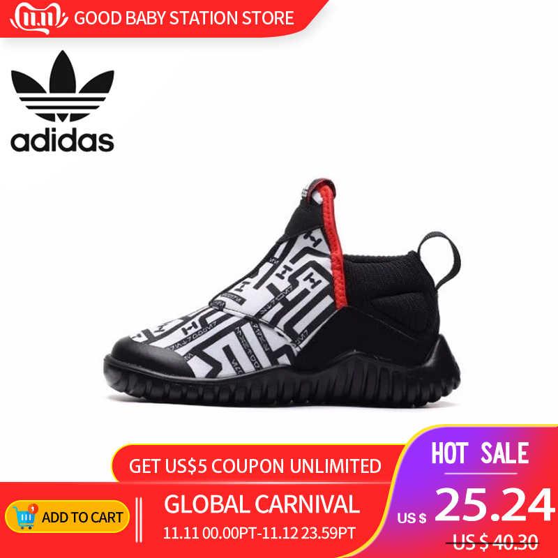 Детская обувь Адидас, оригинал 2019, новая модель, детские кроссовки для бега, спортивные уличные кроссовки # AH2579