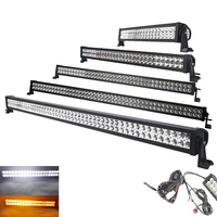 50 32Inch 288W Straight White/Amber/Strobe flash Led Light Bar Combo Wireless Remote For Offroad TRUCK Driving 4X4 ATV SUV