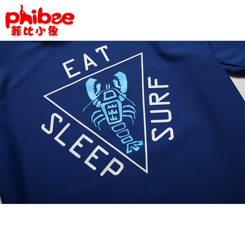 Phibee Phoebe Baby Elephant New Style BOY'S Clothes With Short Sleeves Beachwear Outdoor Wading Sports KID'S Swimwear