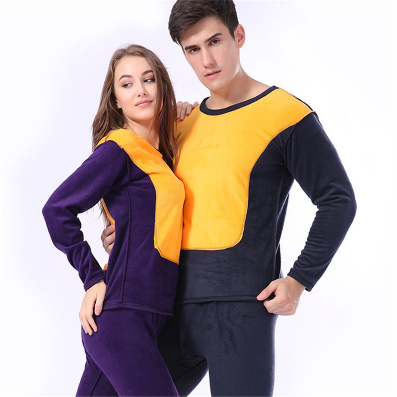 Soft Warm Thick Layered Clothing Women's Thermal Underwear Velvet Pajamas Set Male Long Johns Winter Clothes For Women Underwear