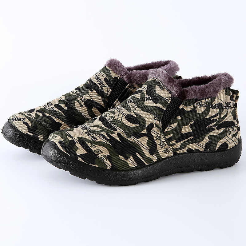 גברים חורף נעלי מוצק מגפי שלג חם קטיפה חורף מגפי גברים נעלי להתחמם עמיד למים עבודה צבאיות אתחול מאן הנעלה