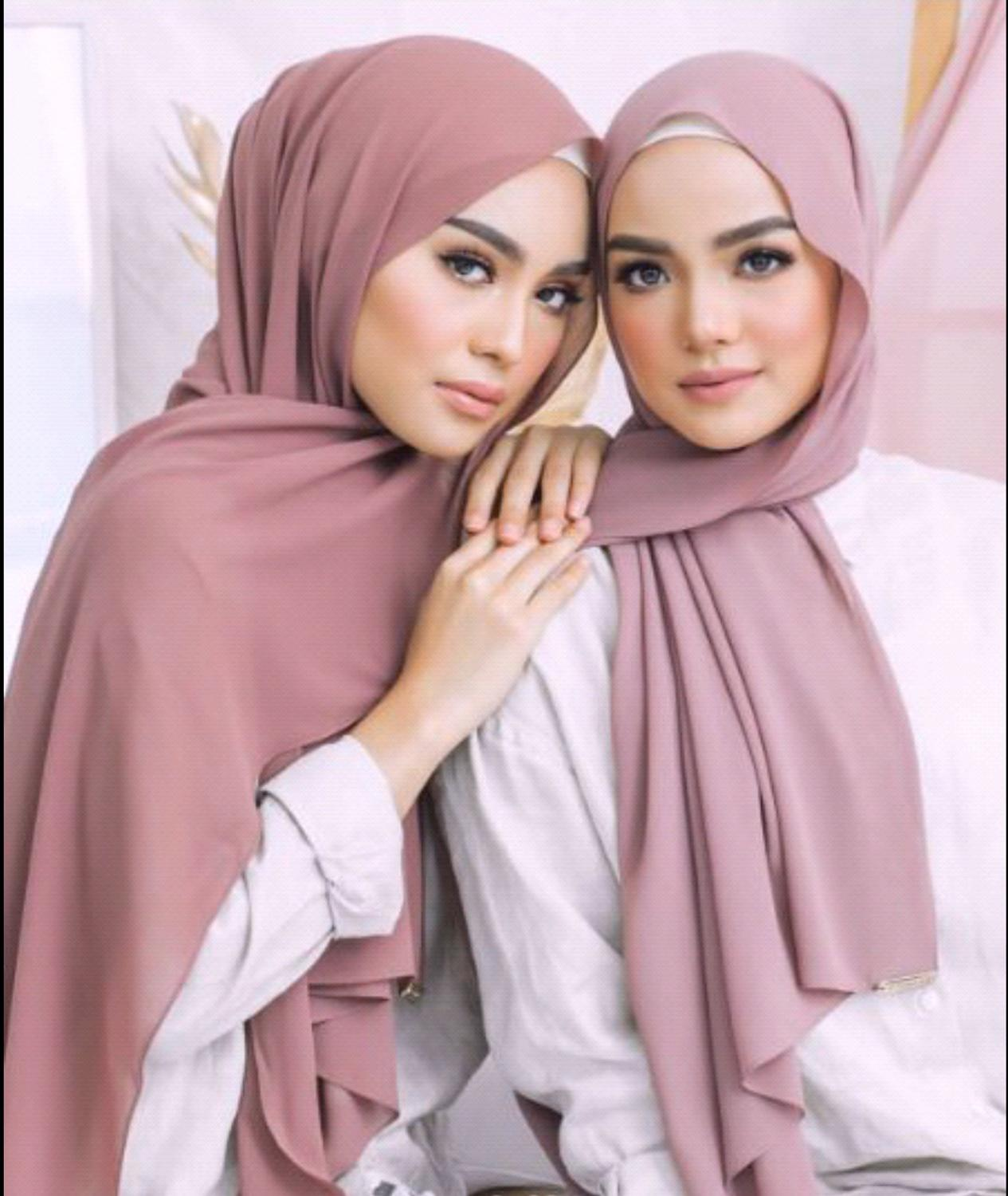 2020 Fashion New Chiffon Solid Muslim Scarf Ladies Shawls And Wraps Soft Female Foulard Hijab Stoles Head Underscarves