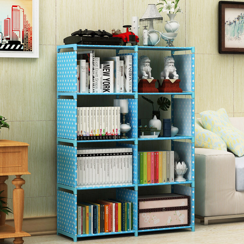 Simple Bookcase Double Row Creative CHILDREN'S Bookcase Free Combination Reinforced Storage Cabinets Multilayer Storage