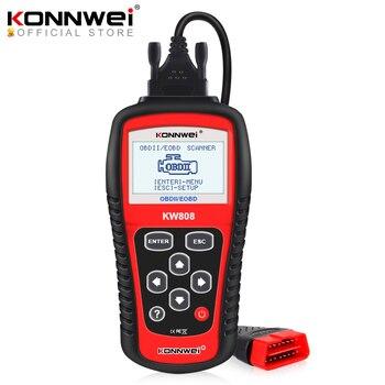 цена на Original KONNWEI KW808 OBD Car Scanner OBD2 Auto Automotive Diagnostic Scanner Tool Supports CAN J1850 Engine Fualt Code Reader