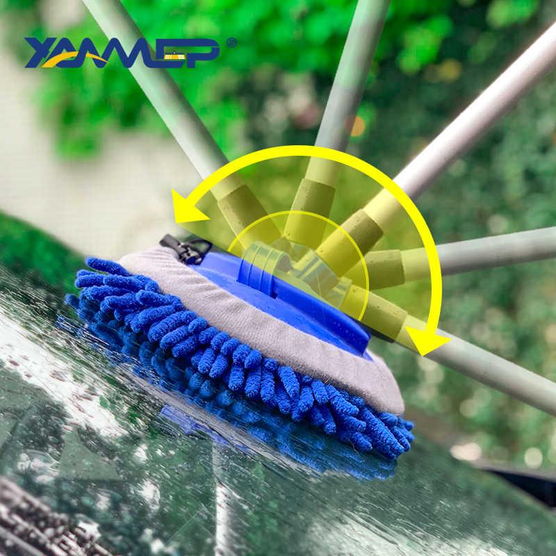 洗車ブラシ洗浄モップシェニールほうき水流クリーニング窓ロングハンドル泡瓶カーアクセサリー Xammep