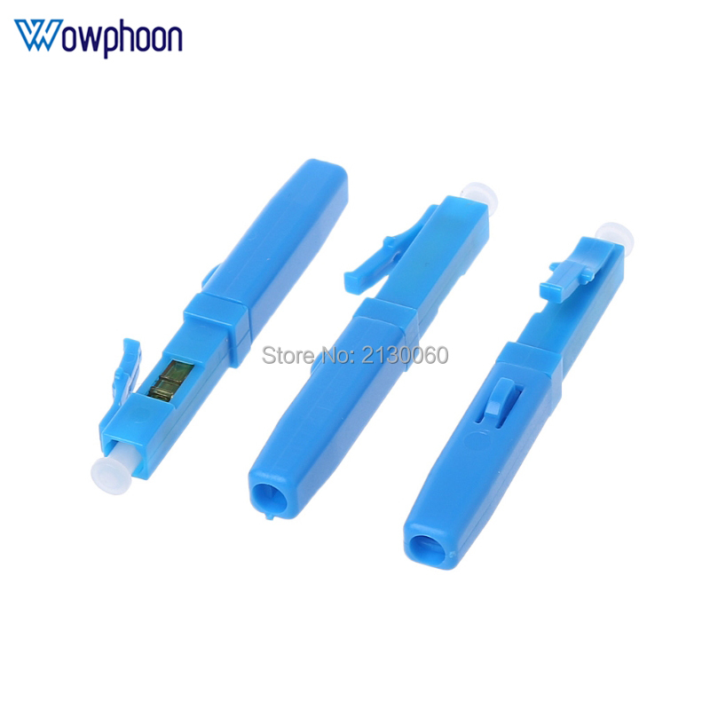 50PCS LC UPC Fast Connector Single-mode Fiber Optic Quick Connector LC Embedded Type FTTH Fiber Optic Fast Connector