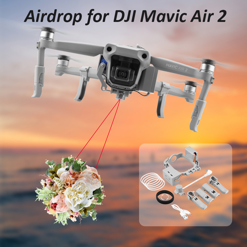 SUNNYLIFE Airdrop Thrower System for DJI Mavic Air 2 mini Fishing Bait Wedding Ring Gift Meal delivery Rescue Drone Thrower Sets