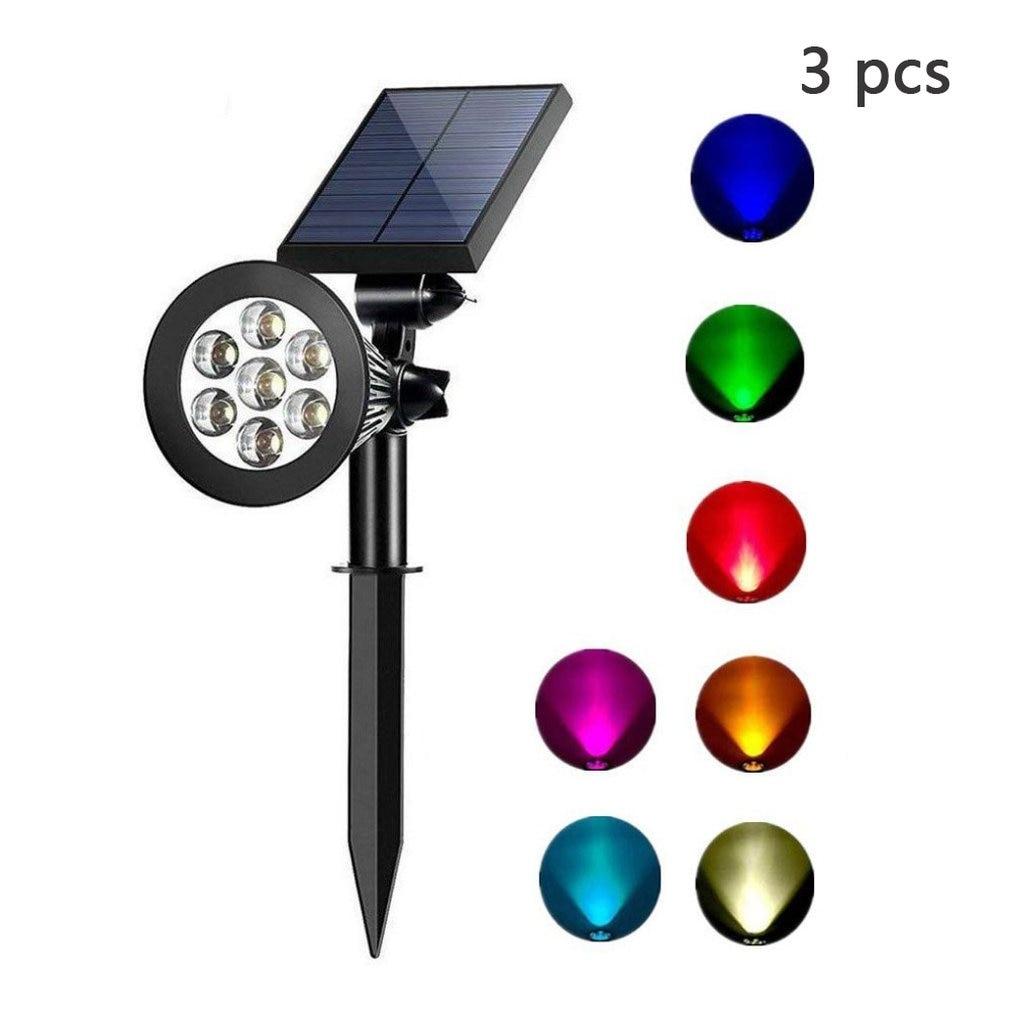 Solar Spotlights Adjustable Color-Changing Waterproof Garden Lawn Lamp Landscape  Spot   Lights Porch  Light