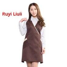 Fashion waterproof oil-proof nail milk tea shop apron coffee western restaurant waiter uniform logo customization