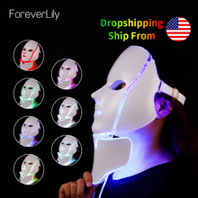 7 Colors Light LED Facial Mask With Neck Skin Rejuvenation F