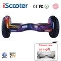 IScooter Ховерборд 10 дюймов bluetooth двухколесный умный самобалансирующийся скутер электрический скейтборд с динамиком giroskuter UL2722