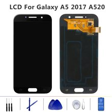 "5.2"" Original Super AMOLED LCD for SAMSUNG Galaxy A5 2017 A520 Display Touch Screen Digitizer SM-A520F A520F Replacement Parts(China)"