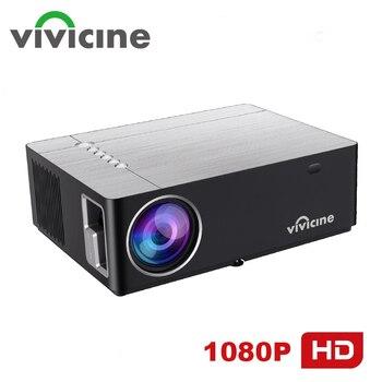 Vivicine m20 mais novo 1080p projetor, opção android 10.0 1920x1080 hd completo led projetor de vídeo em casa beamer suporte ac3