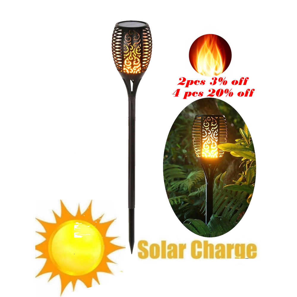 Solar 33LEDs Lawn Dancing Flame Torch Lights Radar Led Tiki Lamp Indoor Outdoor Street Camps Wall Flame Lamp Flickering Bulb Dan