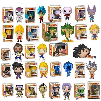 Funko pop Amine Dragon Ball PORUNGA SUPER SAIYAN GOKU Golden FRIEZA GREAT VEGETA Vinyl Action Figure Collectible Model with box 52styles pvc amine figma mini dragon ball z goku golden frieza great vegeta zamasu ape vinyl action figure collectible model toy