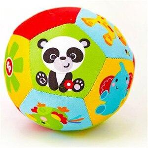 Image 1 - Animal Brinquedos do bebê Bola Macia Bolas de Brinquedo Do Bebê de Pelúcia Chocalhos Infantil Bebês Esfera Do Edifício de Corpo para 0 12 Meses