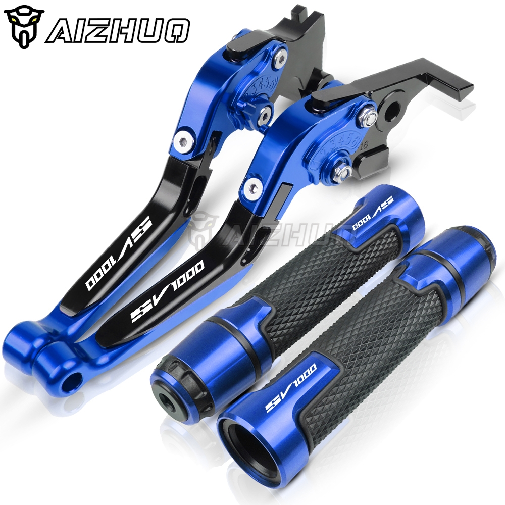 Motorcycle Accessories Handle Grips HandBar End Brake Clutch Lever FOR <font><b>SUZUKI</b></font> <font><b>SV1000</b></font> SV1000S SV 1000 <font><b>2003</b></font> 2004 2005 2006 <font><b>2007</b></font> image