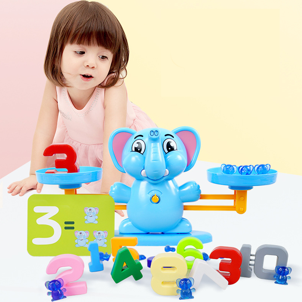 Scale Counting Arithmetic Kids Game Balance Educational PVC Math Toys Set DIY