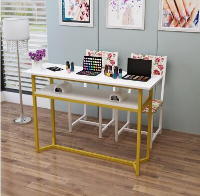 Маникюрный Стол одинарный и двойной маникюрный магазин стол специальный выгодный экономичный контракт современный стол для маникюра и Набор стульев - Цвет: 120cm