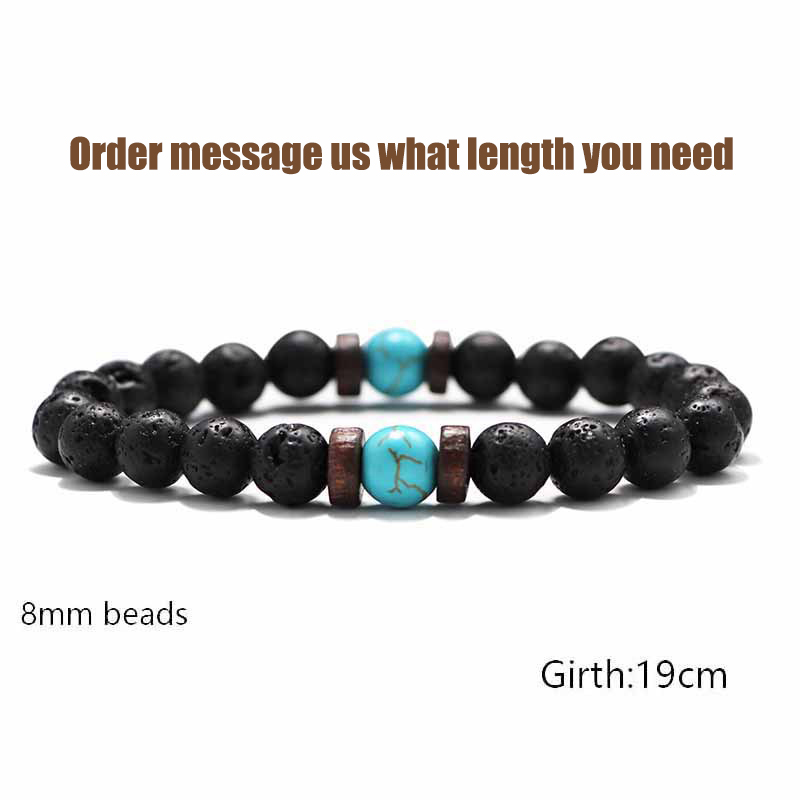 Fashion Lava Stone Bracelet Men Natural Moonstone Bead Chakra Bracelet Male Charm Diffuser Bracelets Heren Armband Jewelry Gift 5