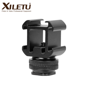 Image 2 - XILETU G3 Cold Shoe Camera Mount Adapter Extend Port for Canon Nikon Pentax DSLR Cameras for Mic Microphone LED Video Fill Light