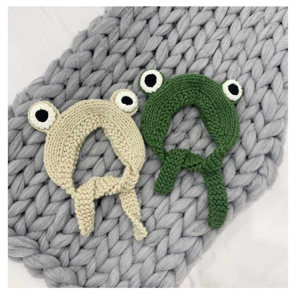 Winter Skullies 2020 Women Frog Hat Crochet Knitted Hat Costume Beanie Hats Cap Women Gift Baby Anime Hat Photography Prop Party