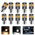 10X/лот T10 светодиодный Лампа для салона автомобиля Canbus Error Free T10 белый 5730 8SMD светодиодный DC12V автомобиля клиновидные боковые светильник белый/...