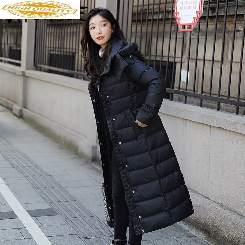 White Duck Down Jacket Women Clothes 2019 Winter Coat Women Raccoon Fur Collar Korean Puffer Jacket Women Warm Parka 8921 YY2046
