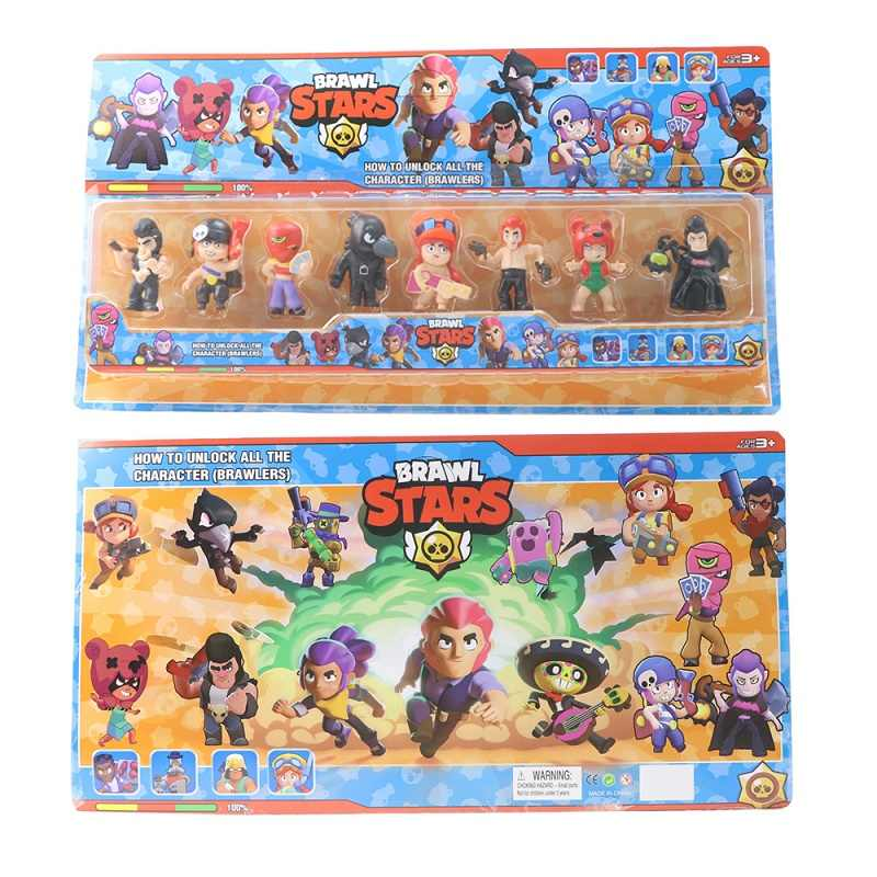 8 pçs/lote Briga Estrelas Figura de Ação brinquedos Shelly Colt Jessie Briga Estrelas Acrílico Modelo Brinquedos para presente de natal da menina do menino