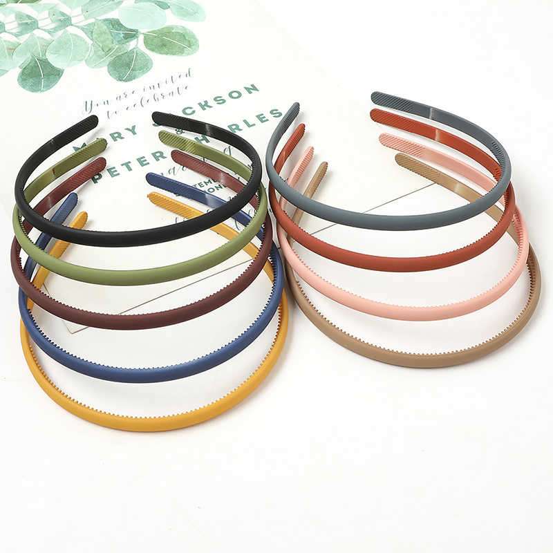 2020 Fashion women Headband plastic Hair Bands For Girls Hair Hoop Girls Simple Scrub Headbands Head Hoop Hair Accessories
