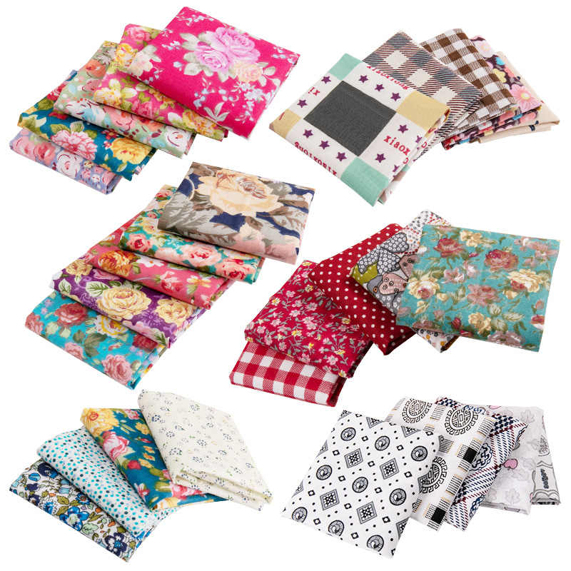 25x25cm /pc printed cotton patchwork Fabric floral quilting Fabrics for Sewing dolls Handmade Crafts Accessories TJ0537