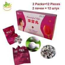 12 Pcs/2 Packs Mooi Leven Tampon Schoon Punt Vaginale Yoni Detox Parels Voor Vrouwen Gynaecologische Vleesbomen W/Doos