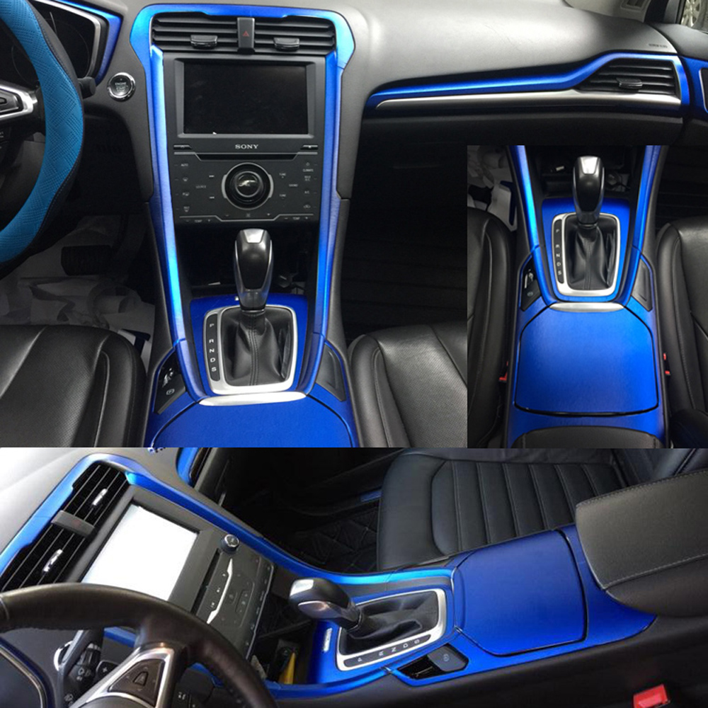 Car-Styling 3D/5D Carbon Fiber Car Interior Center Console Color Change Molding Sticker Decals For Ford Mondeo MK4/5 2013-2019