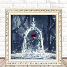 10pcs New style square diamond 5D paintingtrue love roseDIY full cross stitch stick painting wholesale
