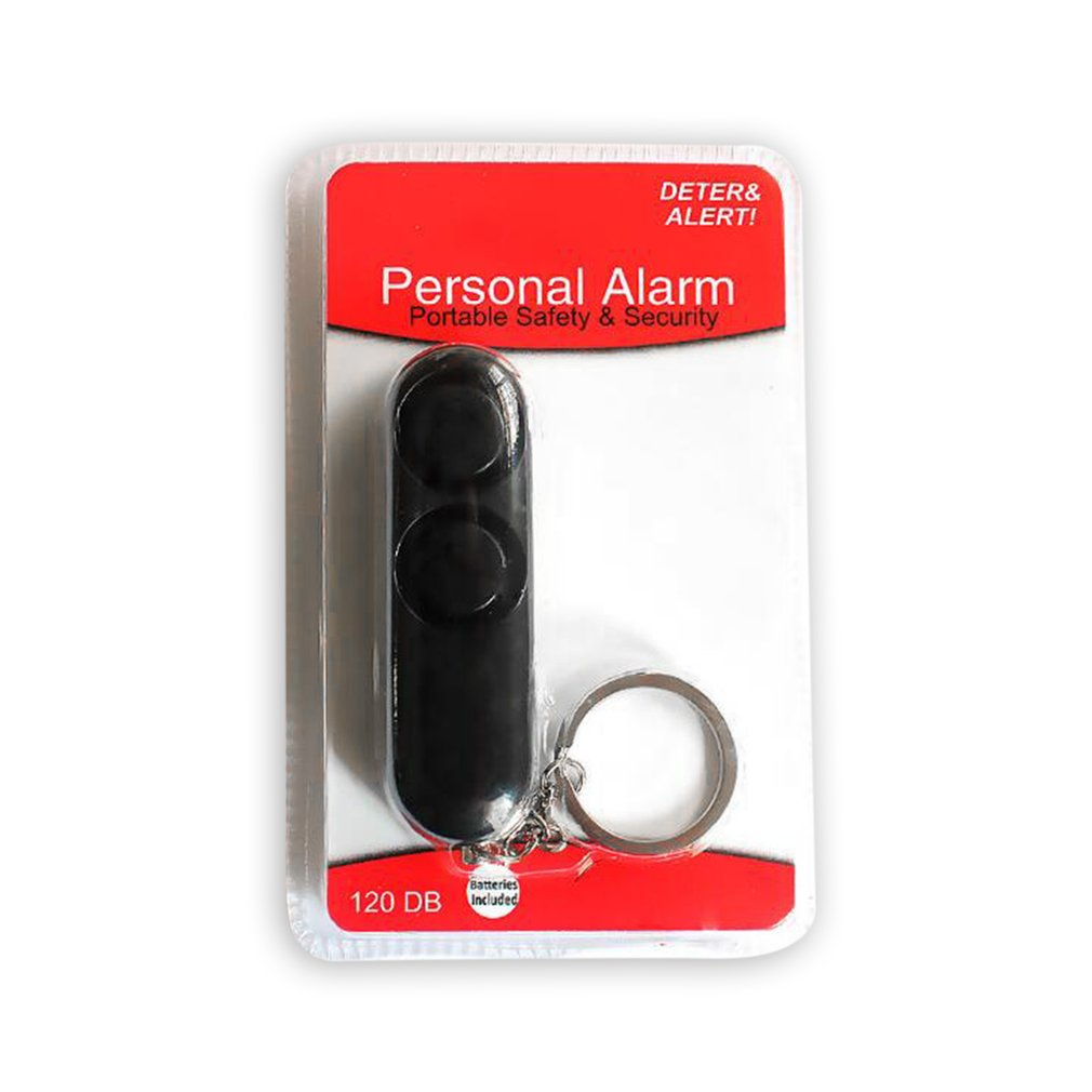 New Fashion Personal Security Keychain Bag Pendant 120dB Anti-riot Device Dual Speakers Loud Alarm