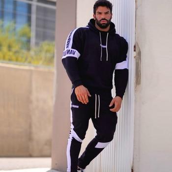 Men Sets Tracksuit Men Autumn Winter Hooded Sweatshirt Sportswear 2020 Male Suit Pullover Two Piece Set Casual Coat