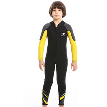 ZCCO Boys Wetsuit 2.5MM neoprene diving suit child Surfing snorkeling swimwear thick thermal Sun-proof wetsuit one-piece set